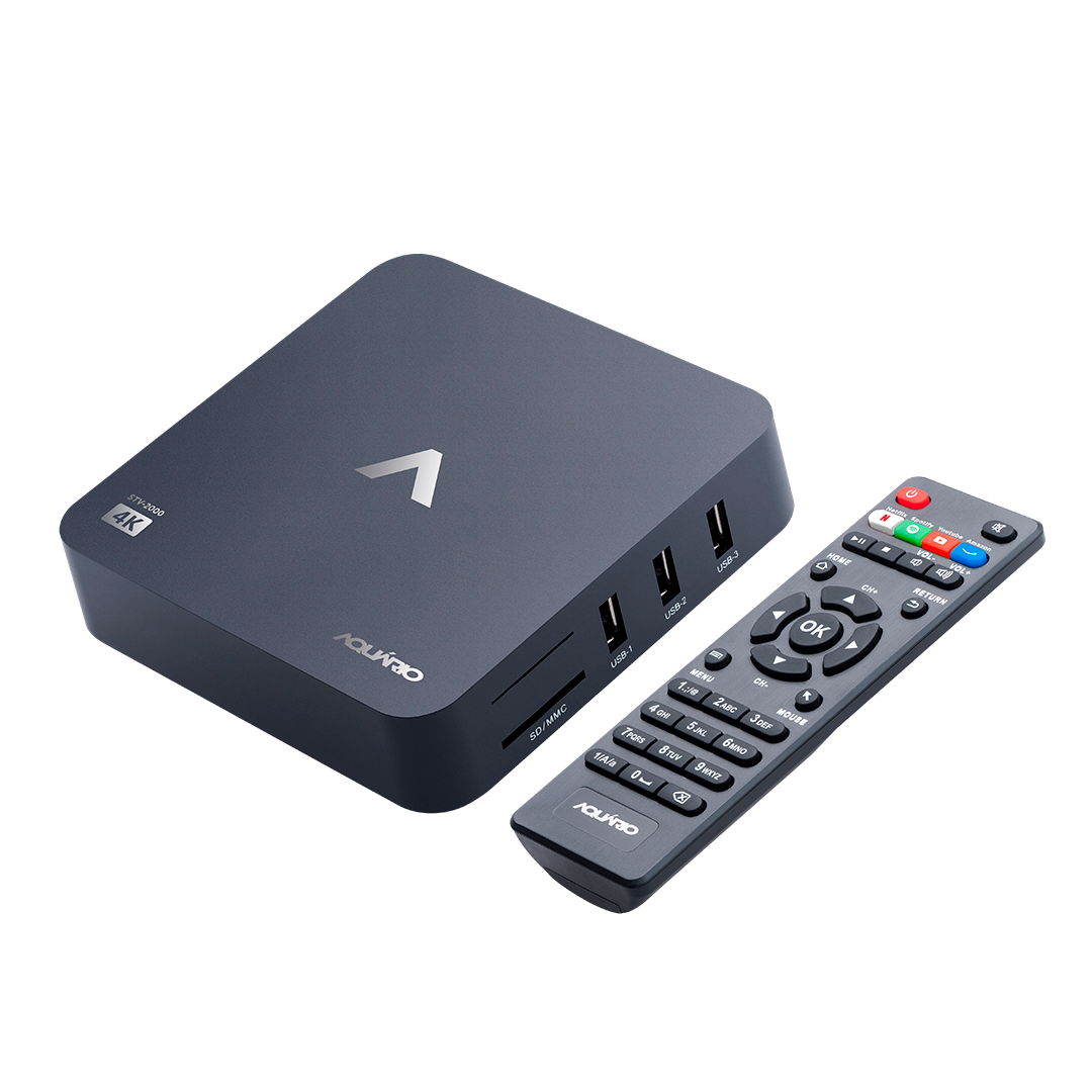 STV-2000 smart tv box 4k aquario