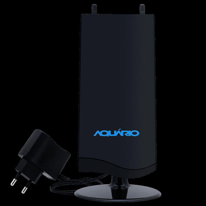 Antena Digital Amplificada em Black Piano DTV-4600