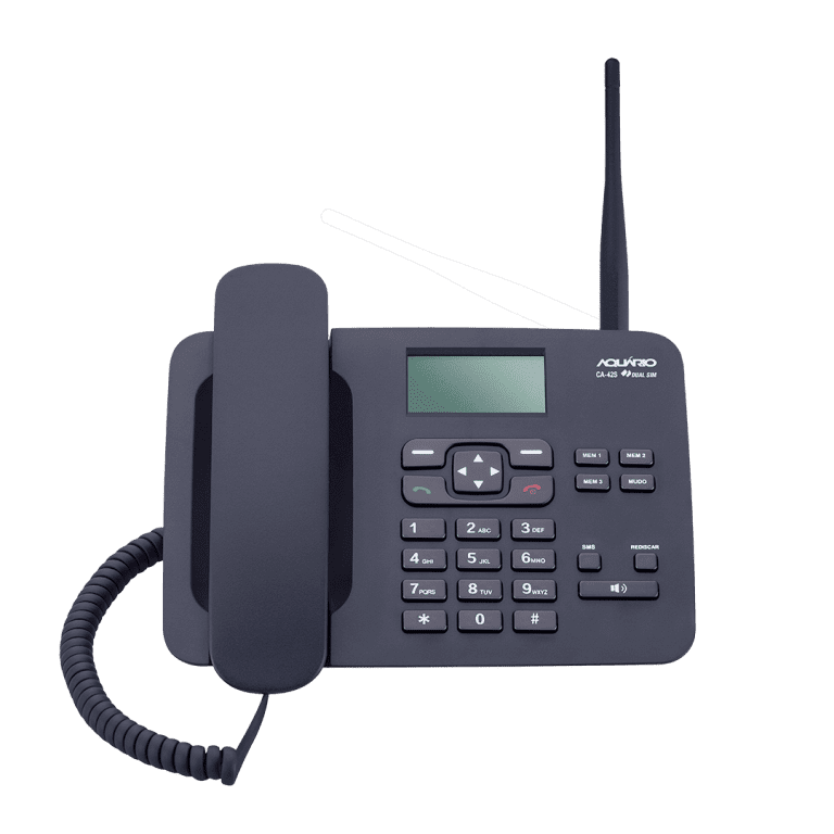 CA 42S telefone rural frontal dual chip aquário
