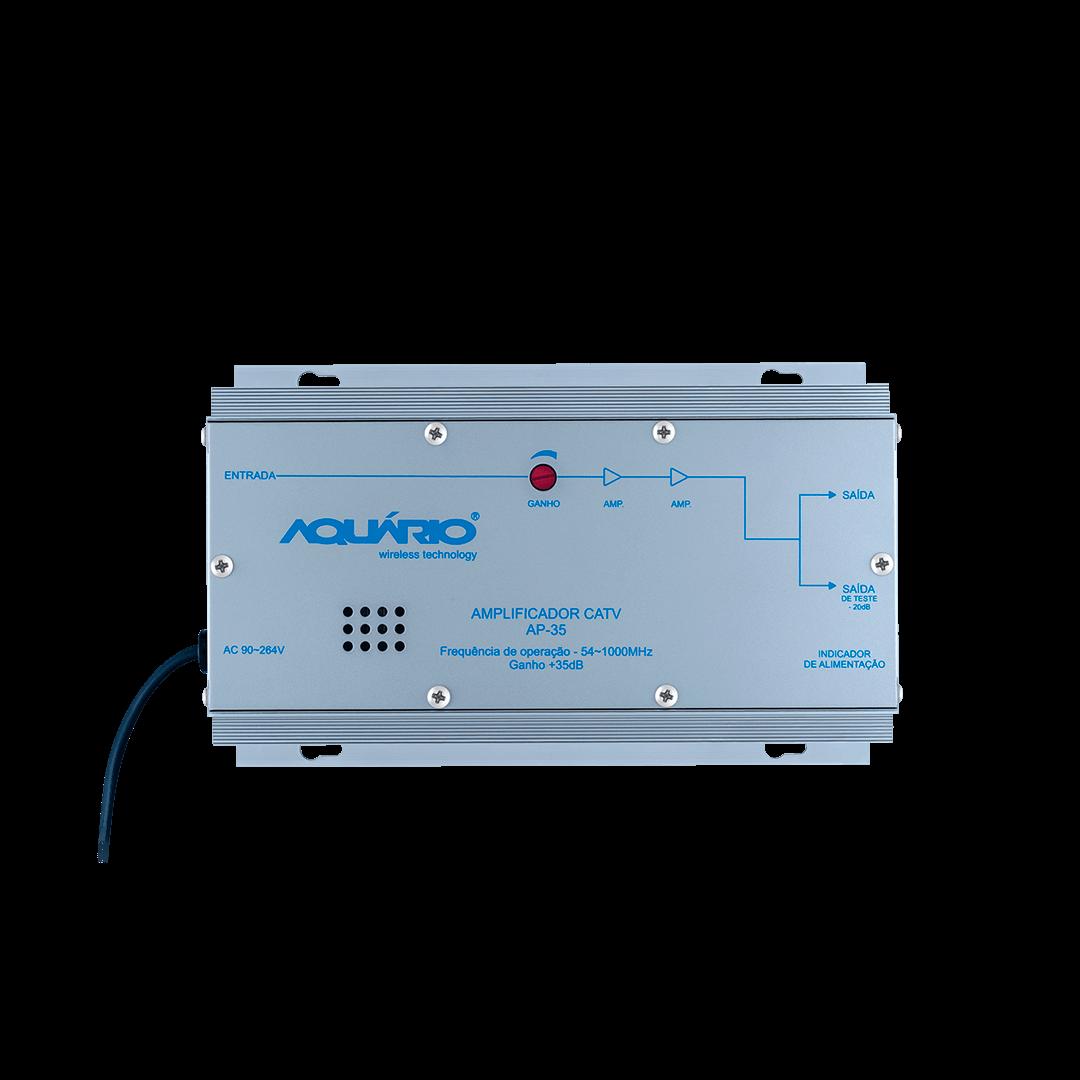 Amplificador de potencia 35db aquario AP 35