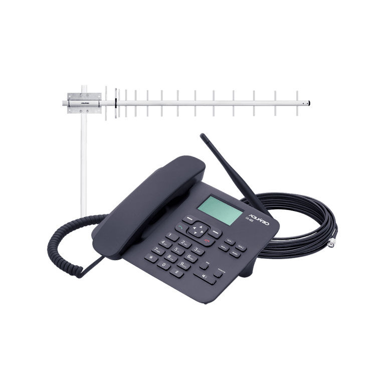 Celular Rural 800MHz CA-40s com Antena Externa 17DBI e Cabo 15m Aquário