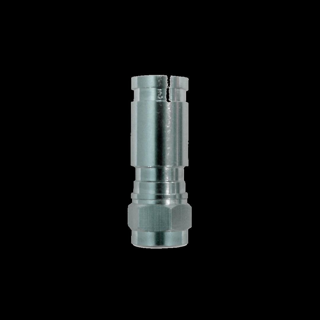 Conector F macho de compressão para cabo RGC 6 FOTO-1